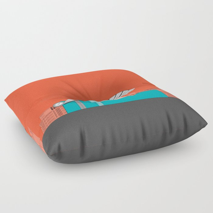 Turquoise Island Floor Pillow