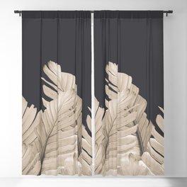 Sepia Banana Leaves Dream #3 #foliage #decor #art #society6 Blackout Curtain
