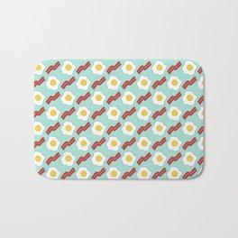 Eggs and Bacon - Hand-drawn Breakfast Pattern Bath Mat