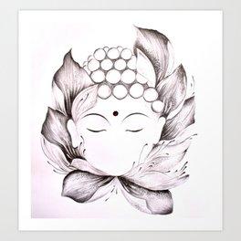 Tiny buddha Art Print