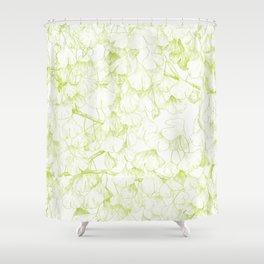 Ginkgo biloba - pattern in green Shower Curtain