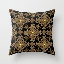 Beaded Baroque Throw Pillow