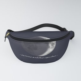Waxing Crescent Moon on Navy Latin Fanny Pack