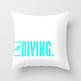 Eat Sleep Diving Repeat Diver Diving License Gift Throw Pillow