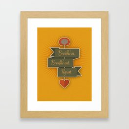 Breathe – yellow Framed Art Print
