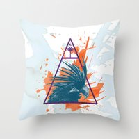 island Throw Pillows featuring Island by Last Call