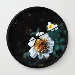 WhiteFlower Wall Clock
