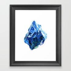 Raw Sapphire Framed Art Print