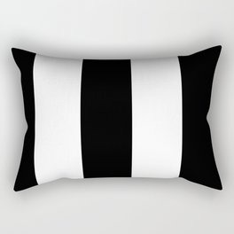 5th Avenue Stripe No. 2 in Black and White Onyx Rectangular Pillow