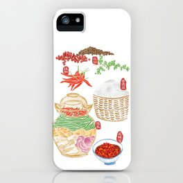 5 key elements of Sichuan cuisine iPhone Case