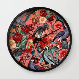 FLORAL AND BIRDS XIX Wall Clock