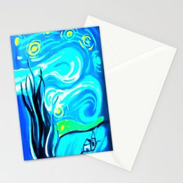 Starry Beach Stationery Cards