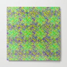 Polyp Green - Coral Reef Series 015 Metal Print