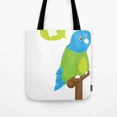 Depressed Parrot Tote Bag