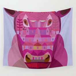 A Cow in Los Angeles Wall Tapestry