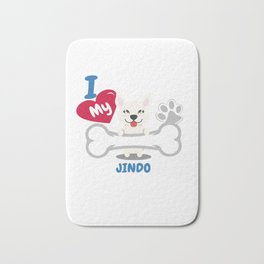 JINDO Cute Dog Gift Idea Funny Dogs Bath Mat