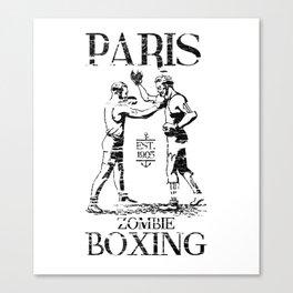 xX PARIS ZOMBIE BOXING Xx Canvas Print