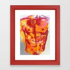 male torso summer Framed Art Print