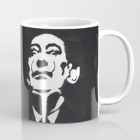 salvador dali Mugs featuring Salvador Dali Stencil by Michellehill