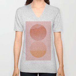 Abstraction_Circles_ART_Minimalism_001 Unisex V-Neck