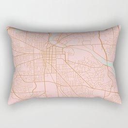 Ann Arbor map, Michigan Rectangular Pillow