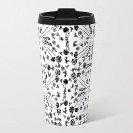 Bird & Flower Pattern Travel Mug