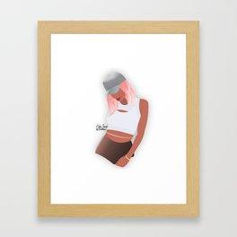 Kylie Jenner [Pink Gradient Hair] Framed Art Print