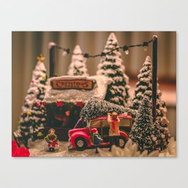 Tiny Christmas Town (Color) Canvas Print