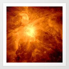 Golden Nebula Art Print