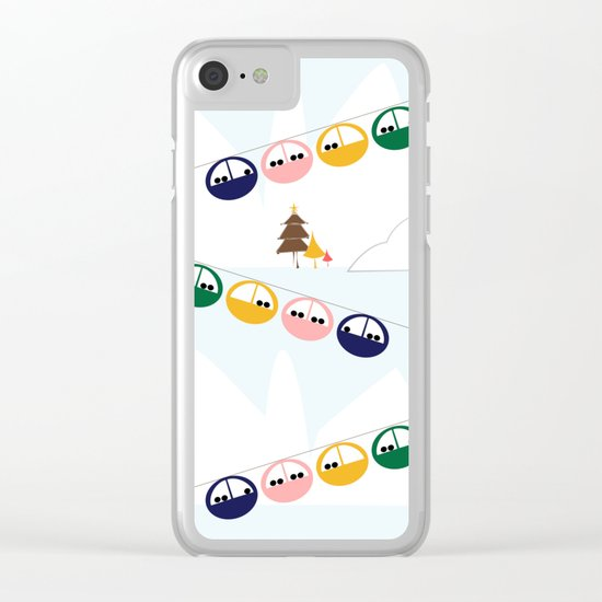 Ski cables Clear iPhone Case