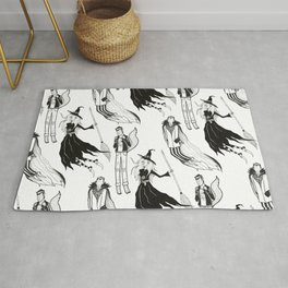 Happy Monsters (in white) Rug