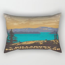 Vintage poster - Killarney Provincal Park, Canada Rectangular Pillow