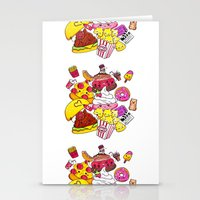 junk food Stationery Cards featuring Junk Food Party by CindyMakes
