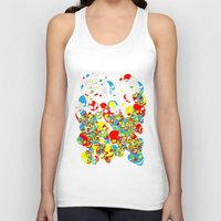 funky Tank Tops featuring Funky Skulls by Azarias