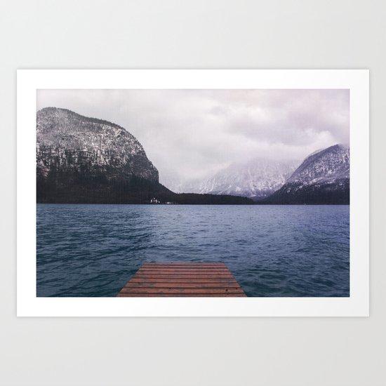 Cloudy Lake Art Print