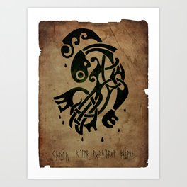 Viking Cthulu #1 Art Print
