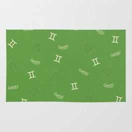 Gemini Pattern - Green Rug