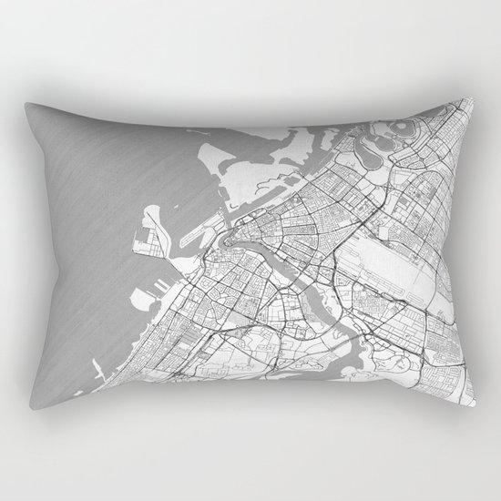 Dubai Map Line Rectangular Pillow