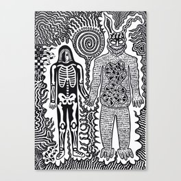 I was in a skeleton suit holding your hand... then I woke up / In honour of Donnie Darko Canvas Print