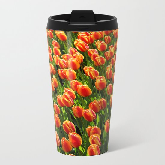 Tulips Metal Travel Mug