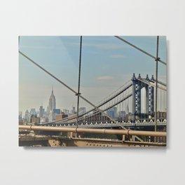 Manhattan Bridge view Metal Print