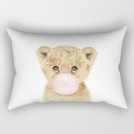 Bubble Gum Lion Cub Rectangular Pillow