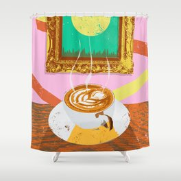 MOON COFFEE Shower Curtain