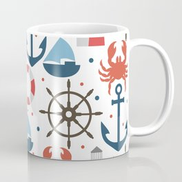 Sea white pattern Coffee Mug