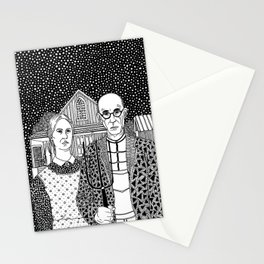 American Gothic. Grant Wood Stationery Cards