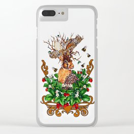 Woodland Rabbit King Clear iPhone Case