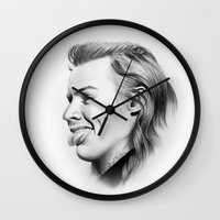 harry Wall Clocks featuring Harry by Stephanie Recking