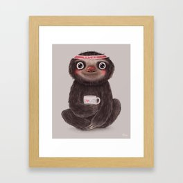 Sloth I♥lazy Framed Art Print