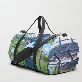 Blue Flowers Duffle Bag