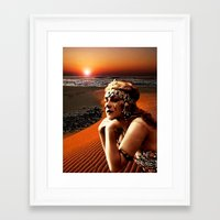 oasis Framed Art Prints featuring Oasis by Danielle Tanimura